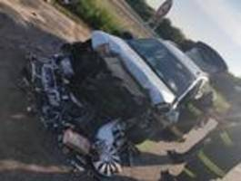 frontal crash am pfingssonntag in lassee
