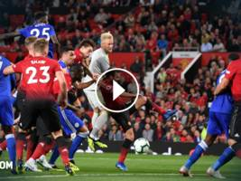 highlights, premier league: manunited vs. leicester city 2:1