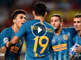 highlights, uefa champions league: as monaco - atletico madrid 1:2