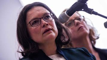 Andrea Nahles in Not