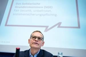 Erste Teilnehmer beim solidarischen Grundeinkommen in Berlin