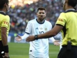 argentinische nationalmannschaft: messi für drei monate gesperrt