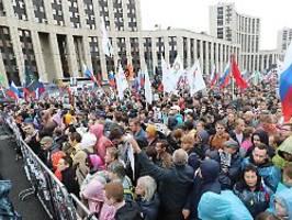 erneut protest in moskau: zehntausende russen fordern freie wahlen