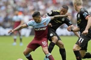 Premier League: Dreimal VAR, dreimal Sterling: Man City schlägt West Ham