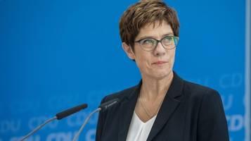Ölheizungen: CDU-Chefin Annegret Kramp-Karrenbauer fordert Abwrackprämie