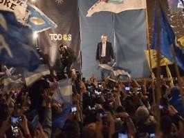 Panik und Jubel in Argentinien: Linke steht vor Rückkehr an die Macht