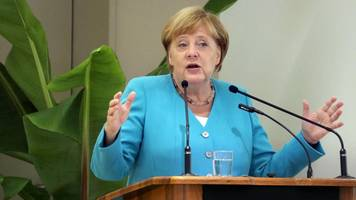 Angela Merkel bei Bürgerdialog: Merkel glaubt an CDU-Erfolge bei Wahlen im Osten