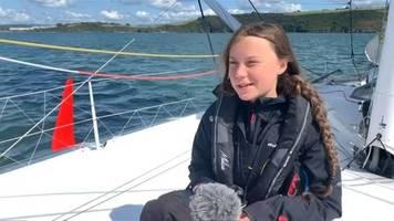 Video: Greta Thunberg kurz vor Atlantik-Überquerung