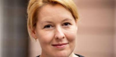 kandidatur für spd-vorsitz: franziska giffey kandidiert nicht