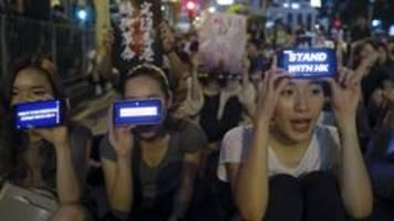 peking in der hongkong-krise: echte informationen unerwünscht