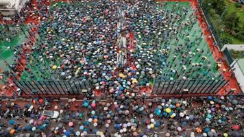 Massenproteste: EU ruft zu Deeskalation in Hongkong auf