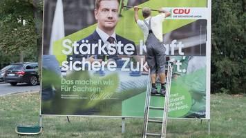 Sachsen-CDU mit viel Bundesprominenz im Wahlkampfendspurt