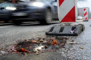 Hamburg: Wasserrohrbruch: Chaos an der Fruchtallee