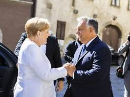 Wertschätzung für Kanzlerin: Orban lobt Merkel und wirbt für EU-Einheit