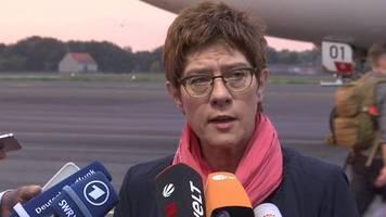 Video: Verteidigungsministerin wirbt vor Irak-Besuch für Bundeswehr-Einsatz