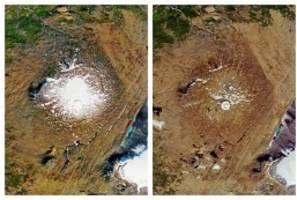 """Klimawandel: Islands trauriger Abschied von einem """"toten"""" Gletscher"""