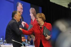 Merkel feiert das offene Grenztor - Orban zieht vor seiner Lieblingsgegnerin den Hut