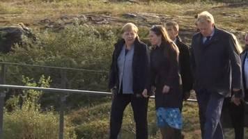 Video: Merkel und Vertreter nordischer Länder beraten über Klimawandel