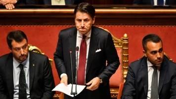Italiens Regierungschef Conte kündigt Rücktritt an