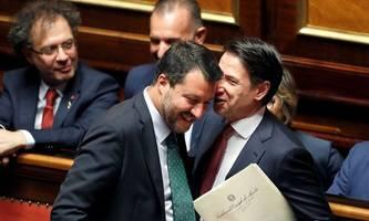 premier conte hält salvini eine standpauke
