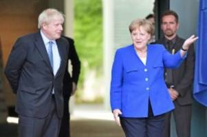 "EU-Austritt: Brexit: Johnson zu Besuch bei Merkel – ""Wir schaffen das"""