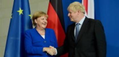 Antrittsbesuch in England: Merkel fordert klare Vorschläge von Johnson