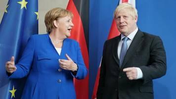 """Antrittsbesuch in Deutschland: """"Wir schaffen das"""", sagt Johnson zu Merkel – aber wie bleibt offen"""