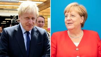 premierminister in berlin - schwierige visite: johnsons antrittsbesuch bei merkel