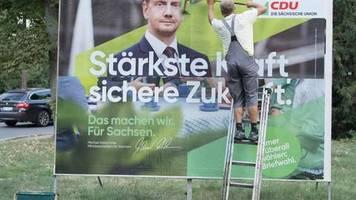 Überraschende Trendwende: ARD-Wahltrend: CDU in Sachsen mit 30 Prozent klar vor AfD