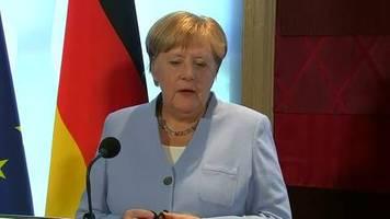 Video: Merkel zu Backstop-Frage: wenn der Wille auf beiden Seiten besteht