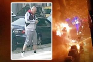 Feuer in Kreuzberg: Polizei sucht tatverdächtigen Serien-Autobrandstifter