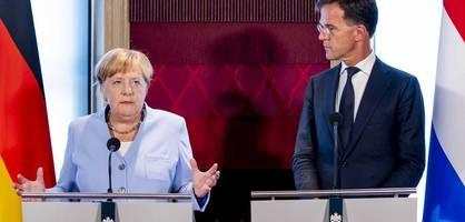 Bundeskanzlerin Merkel trifft Ministerpräsident Rutte beim Klimakabinett