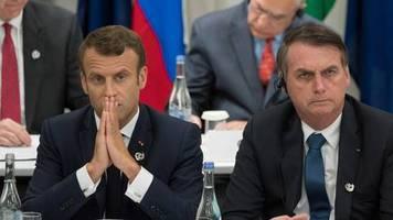 Spannungen vor dem G7-Gipfel: Sensationsgieriger Ton: Bolsonaro attackiert Macron wegen Amazonas-Waldbrände