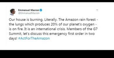Video: Regenwaldbrände in Südamerika: Macron ruft Notfall aus