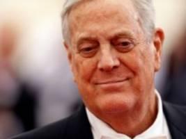 usa: milliardär und konservativer großspender david koch gestorben