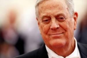 Todesfall: US-Milliardär David Koch im Alter von 79 Jahren gestorben