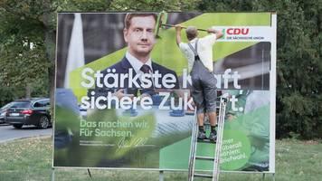 SPD holt in Brandenburg auf - Wahlumfrage: CDU in Sachsen sechs Punkte vor der AfD