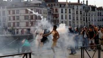 G7-Gipfel: Gewalt bei Protesten in Bayonne