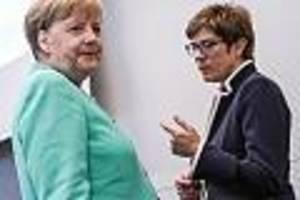 nach landtagswahl-erfolgen der populisten - merkel, kretschmer, akk, maaßen: uneinige union kann kein mittel gegen afd finden