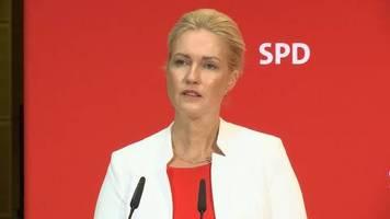 Video: Ministerpräsidentin Schwesig legt SPD-Vorsitz nieder