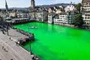 Natriumsalz in Limmat gekippt - Klimaaktivisten färben Fluss in Zürich giftgrün - jetzt ermittelt die Polizei