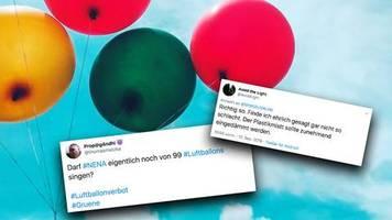 kampf gegen den plastikmüll: darf nena noch von 99 luftballons singen? – grünen-vorschlag spaltet die twitter-gemeinde