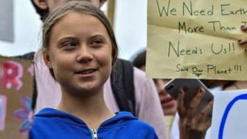 klima-aktivistin thunberg demonstriert vor dem weißen haus