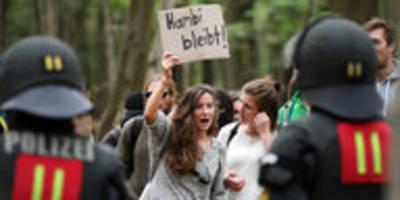 Baumhaus-Räumung im Hambacher Forst: Minister übt Pseudo-Transparenz