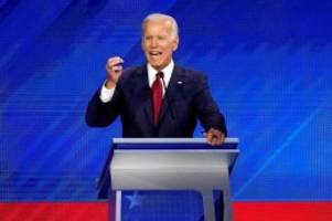 US-Wahlkampf: TV-Debatte der Demokraten: Wird Biden Trump herausfordern?