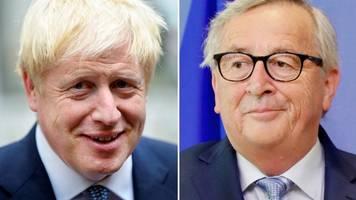 Spekulationen über Backstop: Bewegung beim Brexit? Juncker und Johnson treffen sich