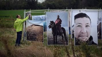 fotokunst-installation zum klimawandel am hambacher forst