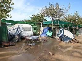 Gewaltige Schäden in Spanien: Mindestens sechs Tote nach Unwettern