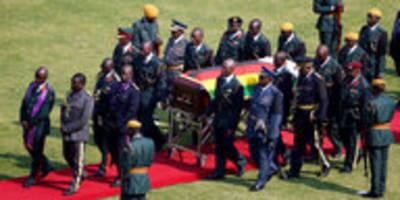 Trauerfeier für Robert Mugabe: Staatsakt im Stadion