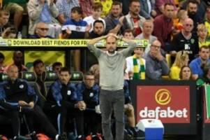 Premier League: Glückwunsch an Norwich: Man City patzt bei Aufsteiger